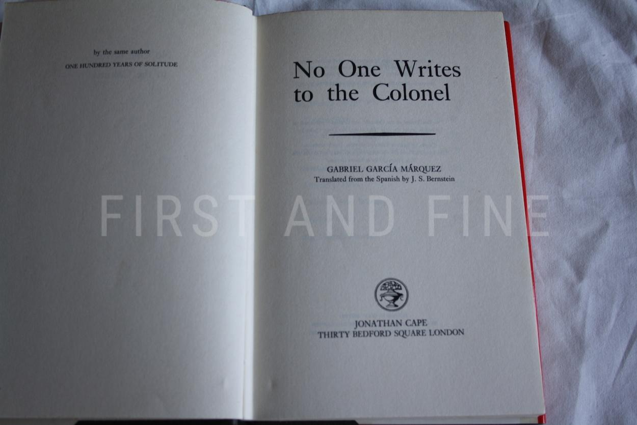 gabriel garcia marquez no one writes to the colonel For example, in no one writes to the colonel, the main characters are not given names gabriel garcia marquez, the art of fiction no 69 the paris review.