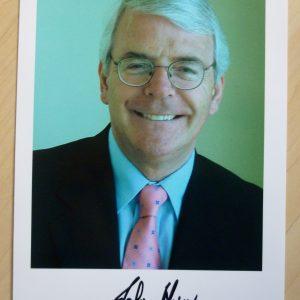 Major, John; signed portrait photograph