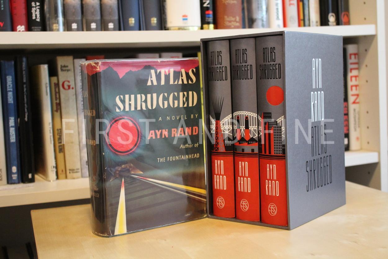 Ayn Rand 1957 Atlas Shrugged Us First Edition Folio Society Illustrated Edition
